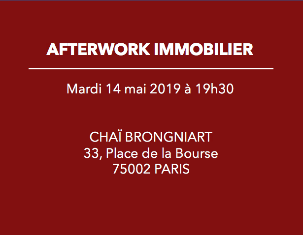 Invitation à l'afterwork du 14 mai 2019