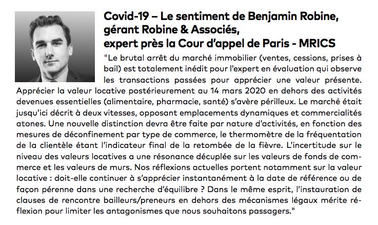 Covid-19 : le sentiment de Benjamin ROBINE dans FLASH M2